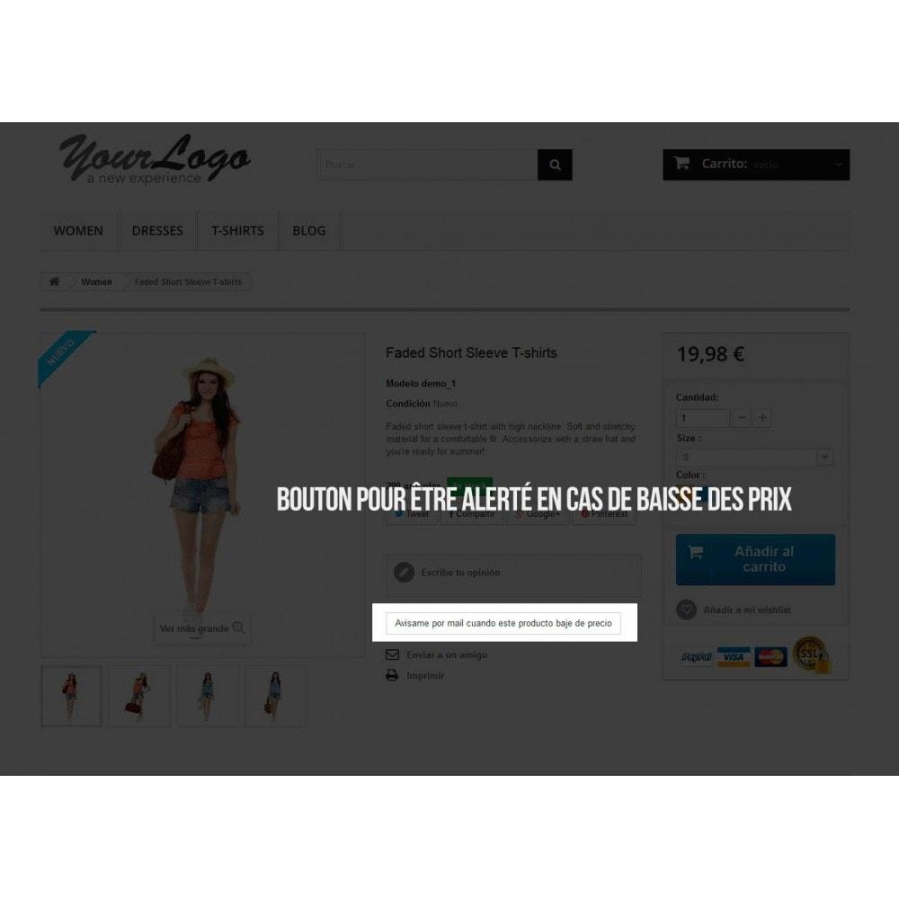module - E-mails & Notifications - Alerte pour abonnement aux baisses de prix - 2