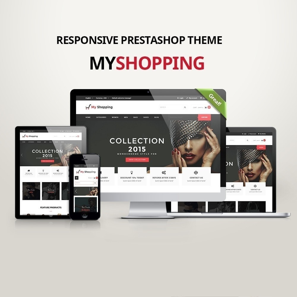 theme - Fashion & Shoes - MyShopping Fashion Responsive - 1