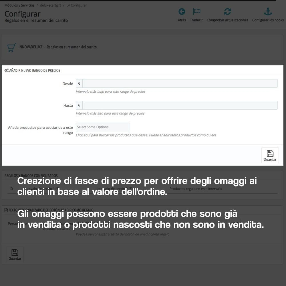 module - Promozioni & Regali - Gifts in shopping carts to increase order price - 2