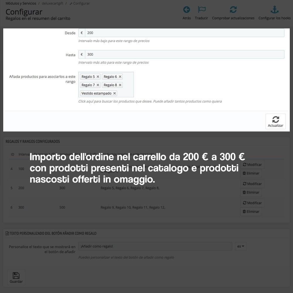 module - Promozioni & Regali - Gifts in shopping carts to increase order price - 3