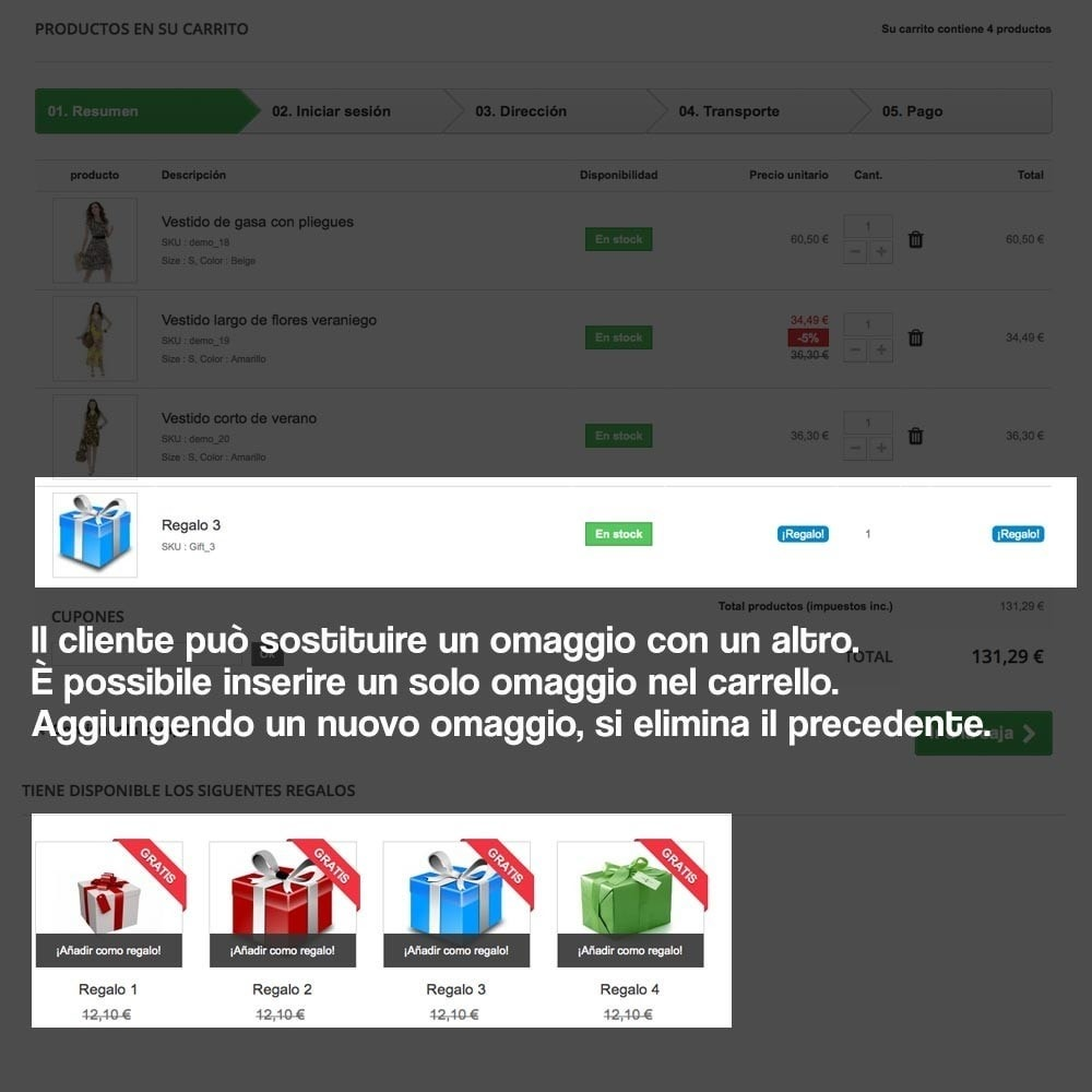 module - Promozioni & Regali - Gifts in shopping carts to increase order price - 13
