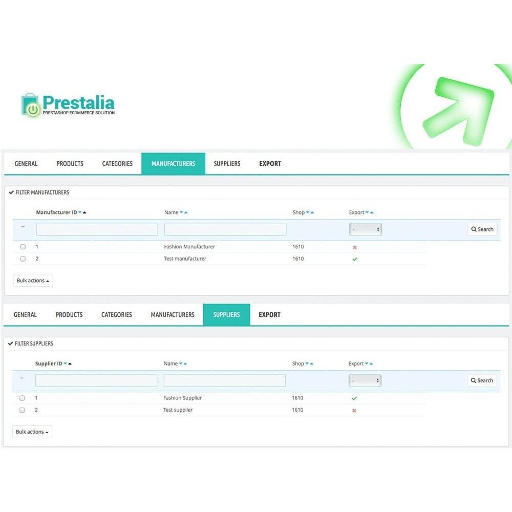 module - Importación y Exportación de datos - Exportación Trovaprezzi con filtros avanzados - 6