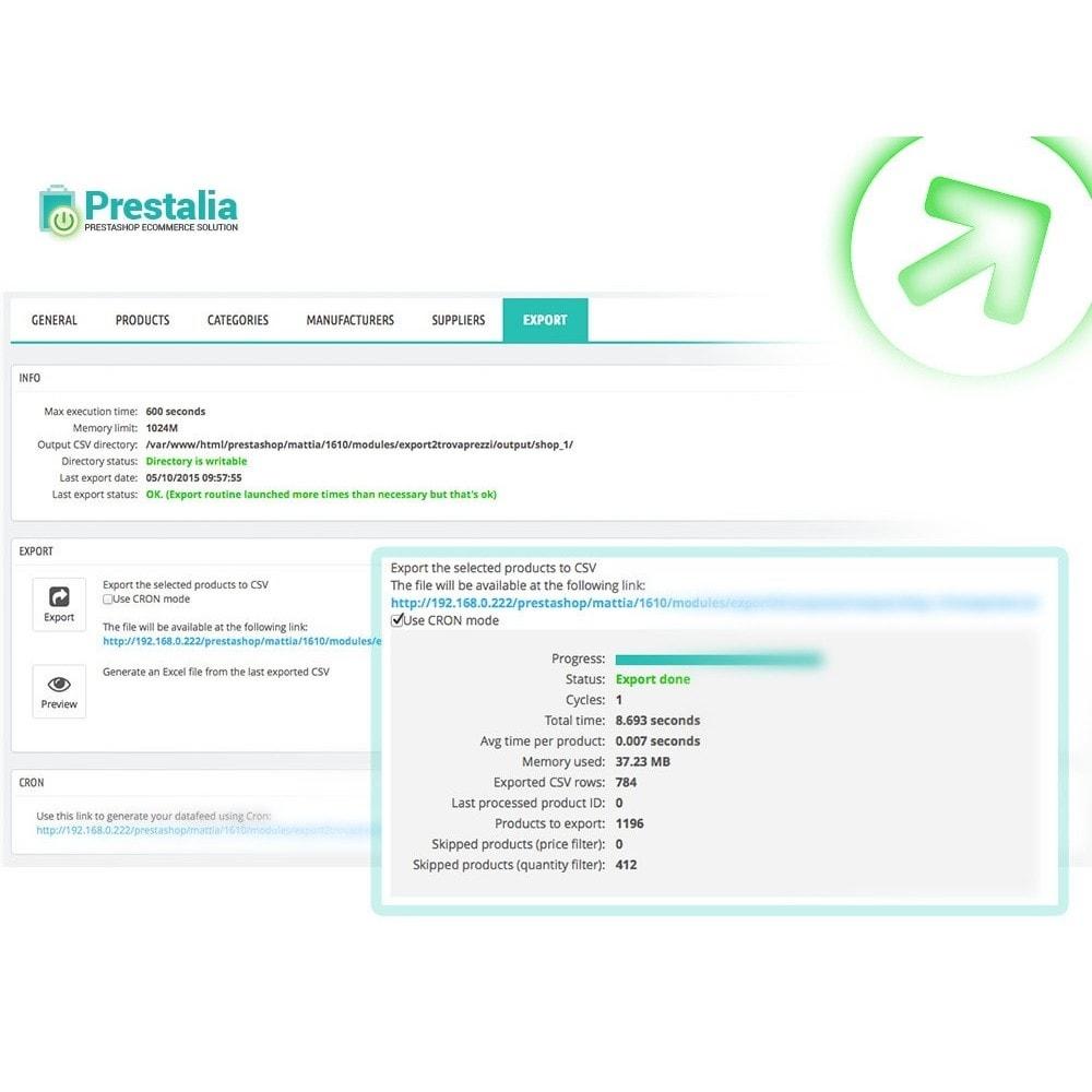 module - Daten Im-&Export - Export Produkte Trovaprezzi mit erweiterten Filtern - 1