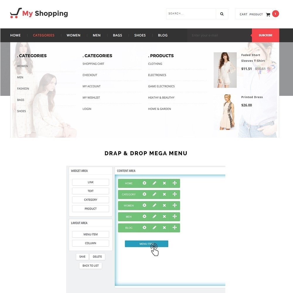 theme - Fashion & Shoes - MyShopping Fashion Responsive - 6