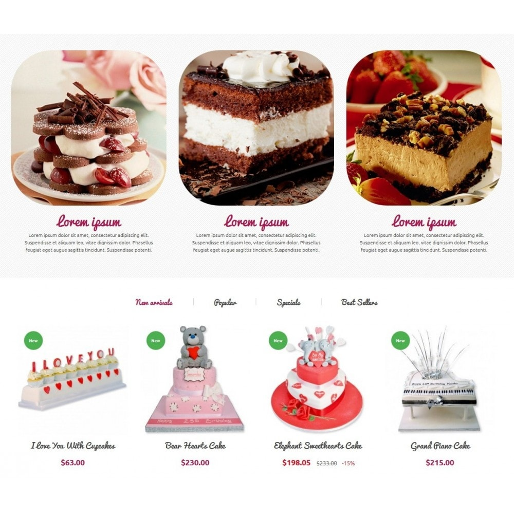 theme - Food & Restaurant - Cakes Online store - 4