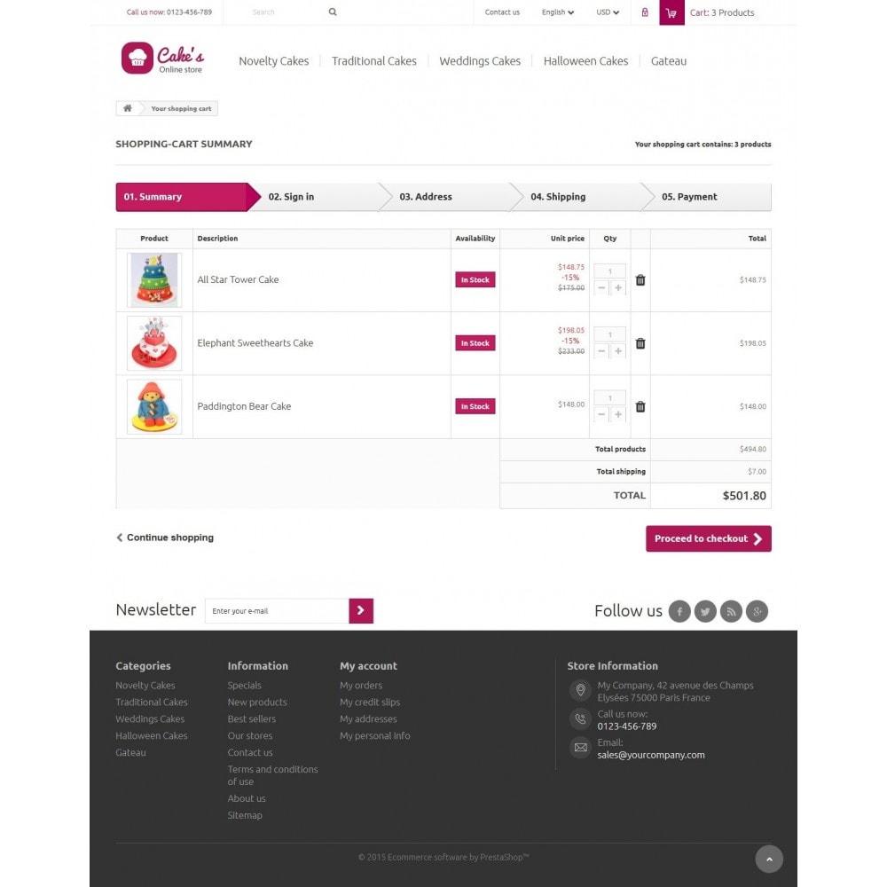 theme - Eten & Restaurant - Cakes Online store - 8