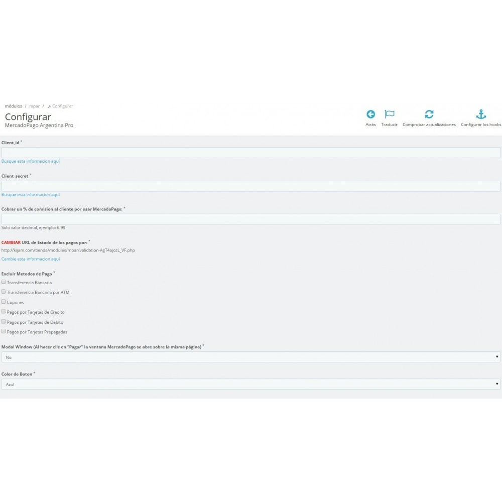 module - Pago con Tarjeta o Carteras digitales - MercadoPago y MercadoEnvios para Brasil - 2