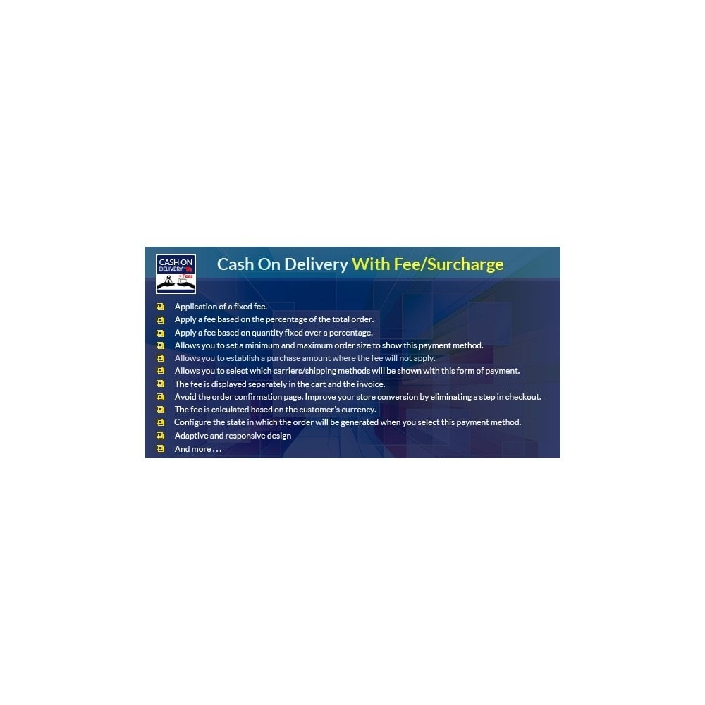 module - Zahlung per Nachnahme - Cash On Delivery With Fee/Surcharge - Complete 100% COD - 1