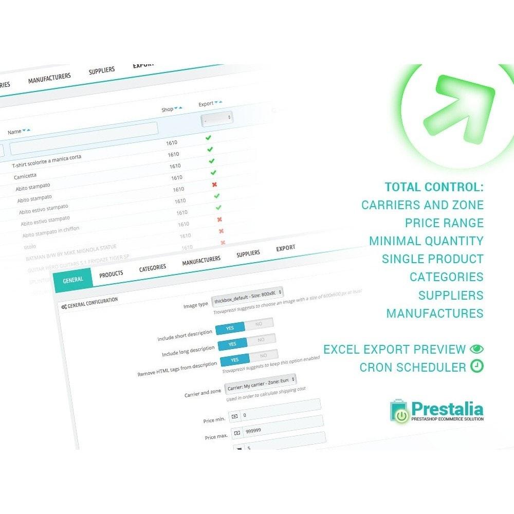 module - Comparateurs de prix - PriceRunner - Export + Filtres avancés - 1