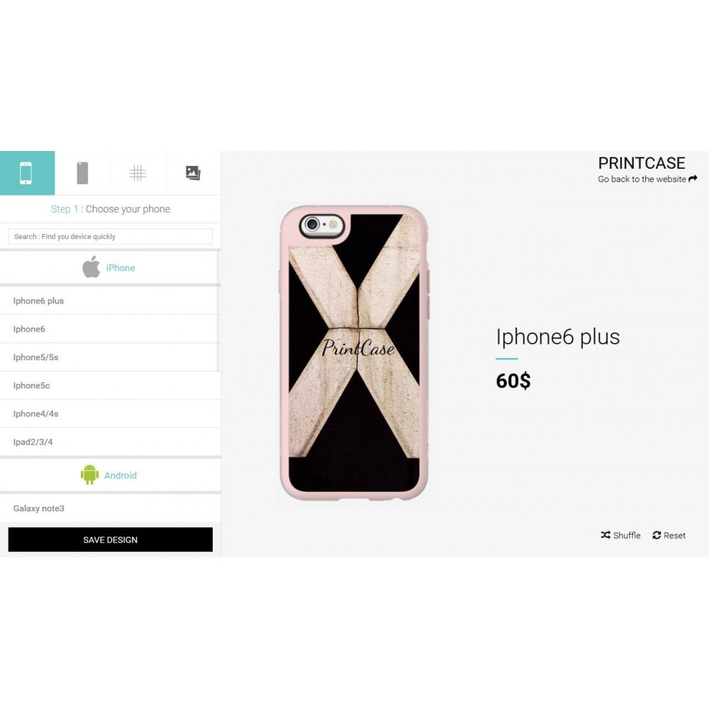 module - Combinations & Product Customization - Custom Phone Case - PrintCase - 1