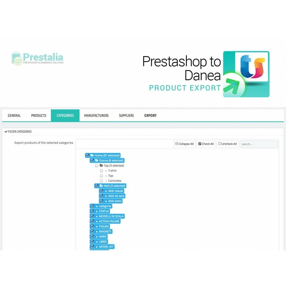 module - Data Import & Export - Export from Prestashop to Danea - 4