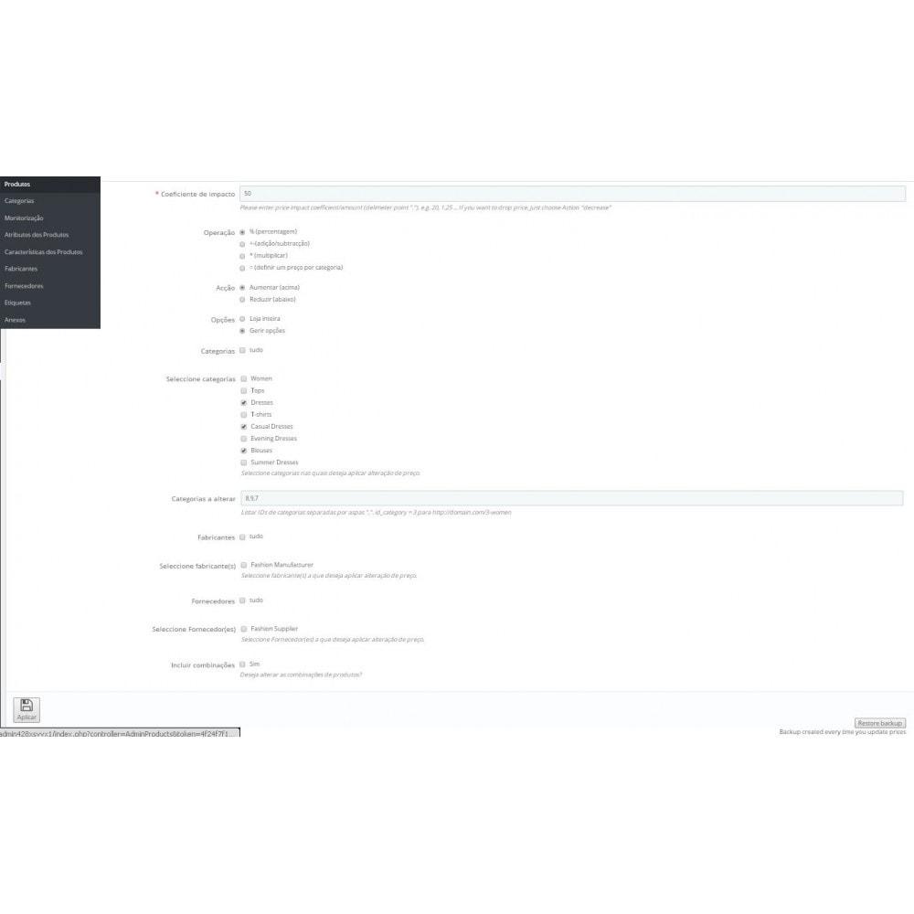 module - Edição rápida & em massa - Assistente de actualização de preços em massa - 2