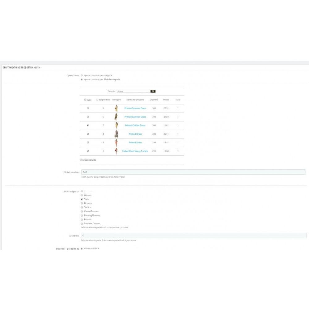 module - Modifica rapida & di massa - Sposta prodotti in massa tra le categorie - 1