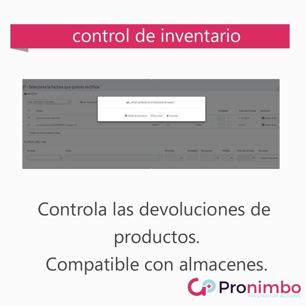 module - Contabilidad y Facturas - Facturas Rectificativas/Abonos.Totales y Parciales. - 3