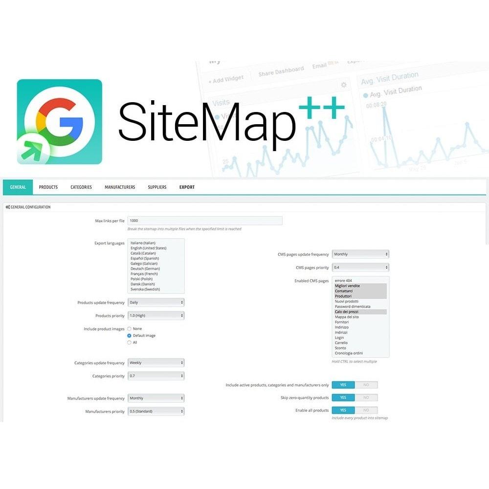 module - SEO (Indicizzazione naturale) - Sitemap Plus multi lingua con cron e filtri - 2