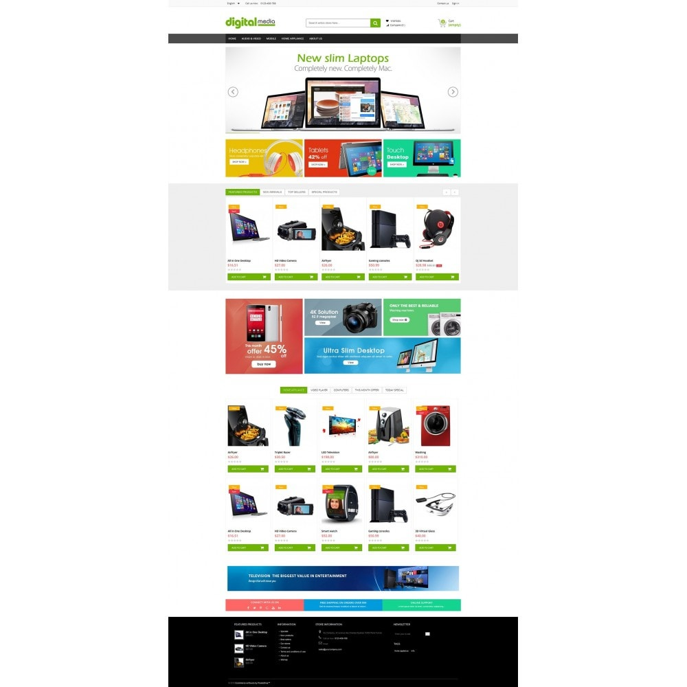 theme - Elektronica & High Tech - Digitalmedia Multi-purpose HTML5 - 2