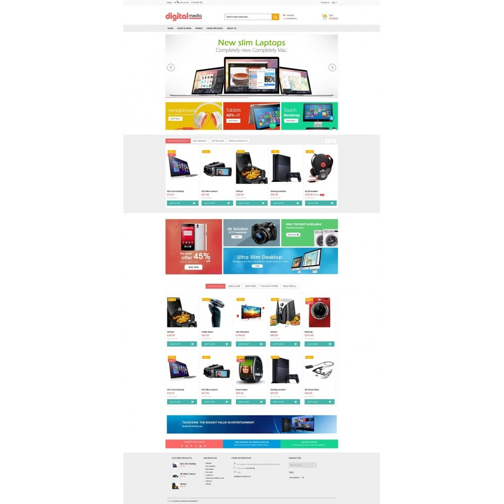 theme - Elektronica & High Tech - Digitalmedia Multi-purpose HTML5 - 7