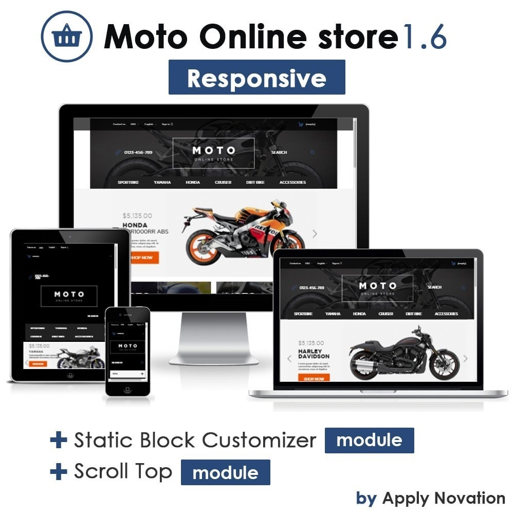 theme - Automotive & Cars - Moto and Bikes Online store 1.6 Responsive - 1
