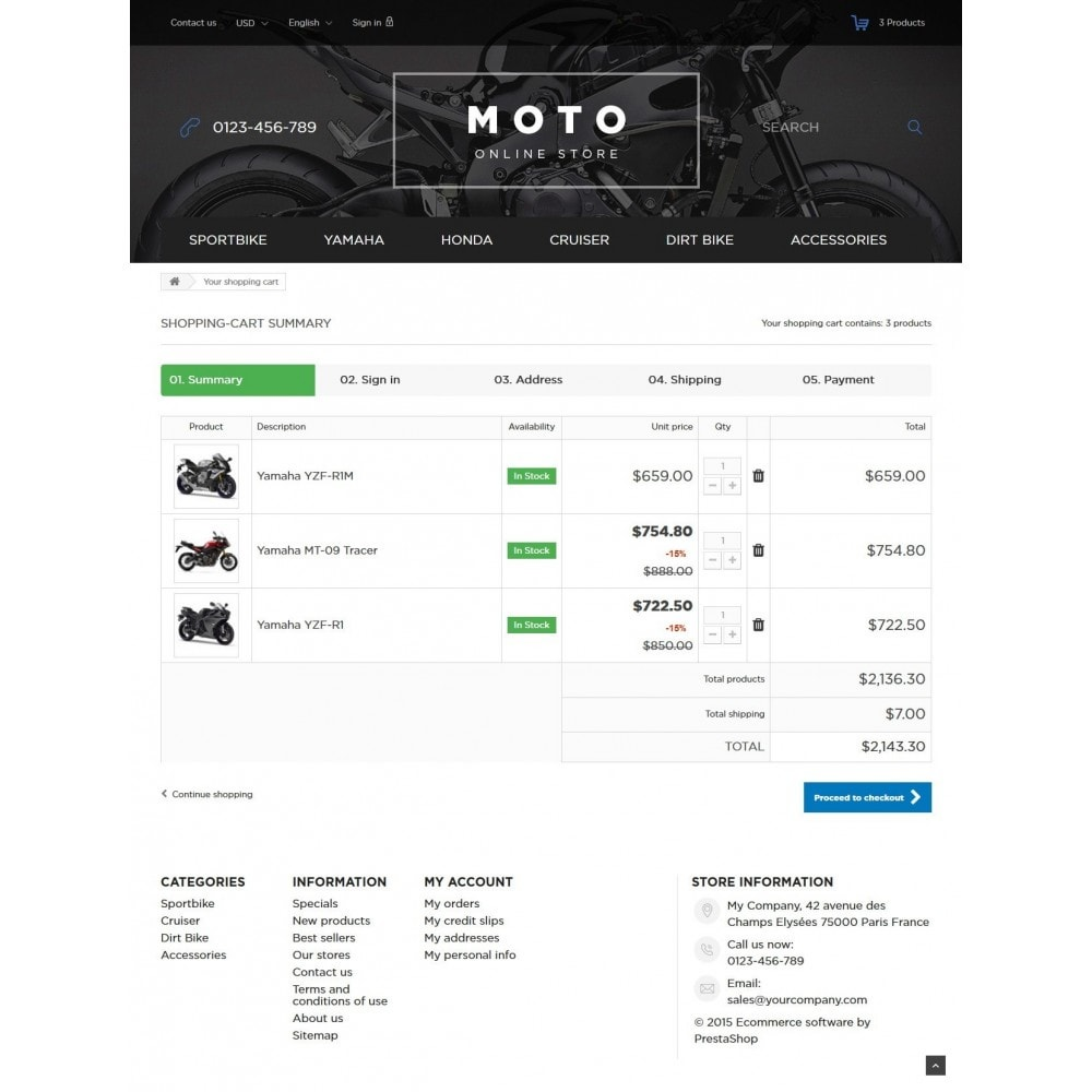 theme - Carros & Motos - Moto and Bikes Online store 1.6 Responsive - 8