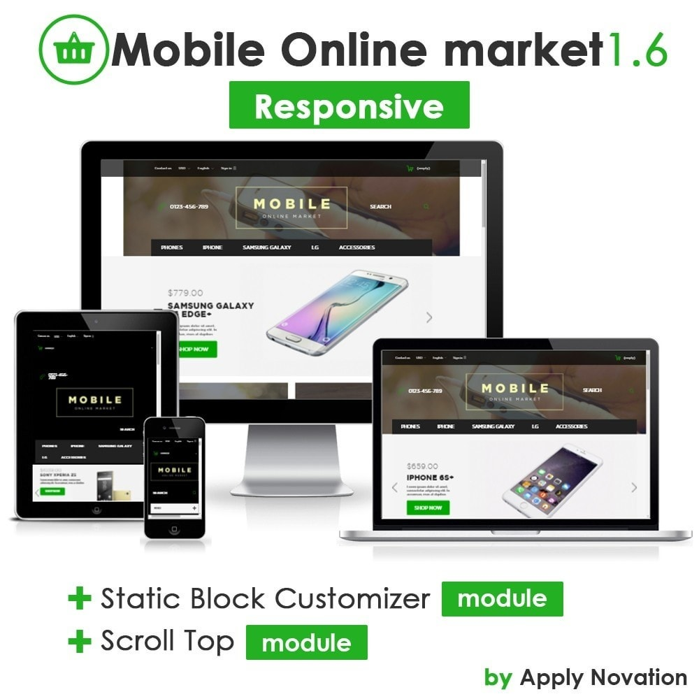 theme - Elektronica & High Tech - Mobile Online Market 1.6 Responsive - 1
