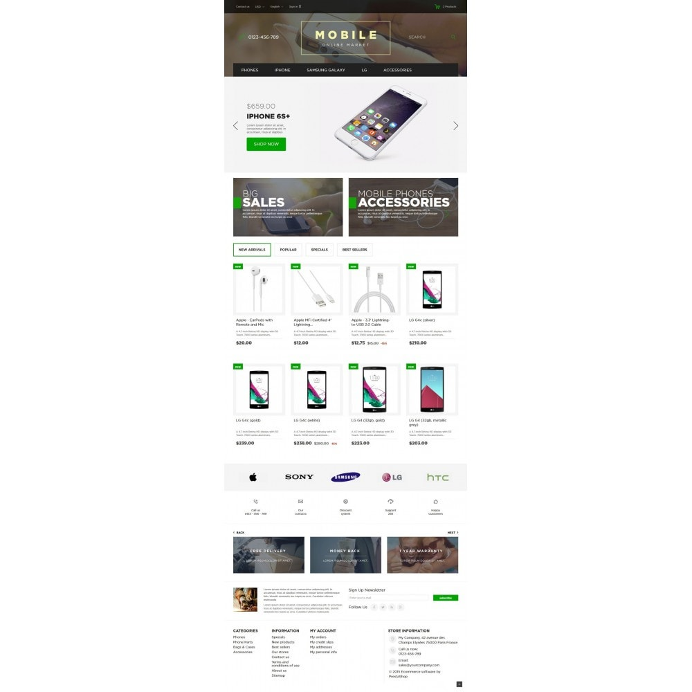 theme - Elektronica & High Tech - Mobile Online Market 1.6 Responsive - 2