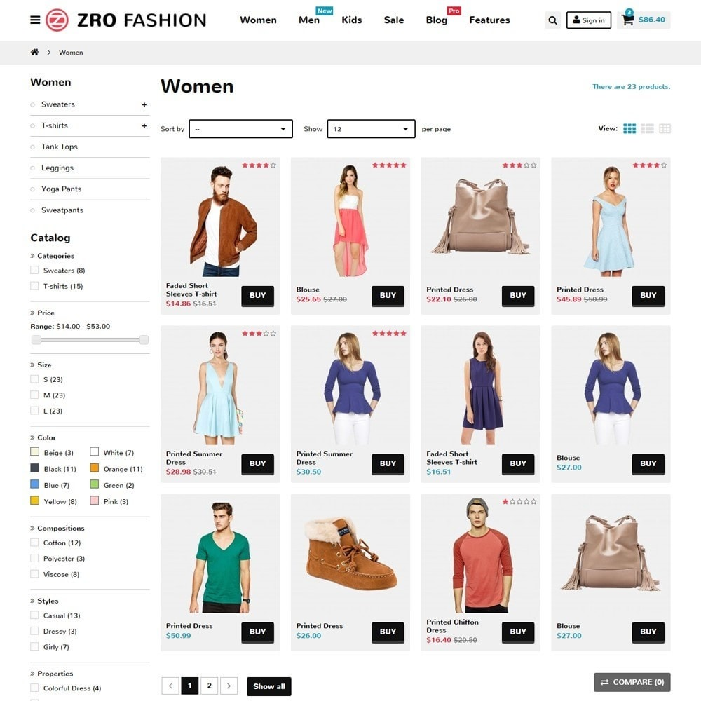 theme - Moda y Calzado - Zro02 - Fashion Responsive & Flexible - 6