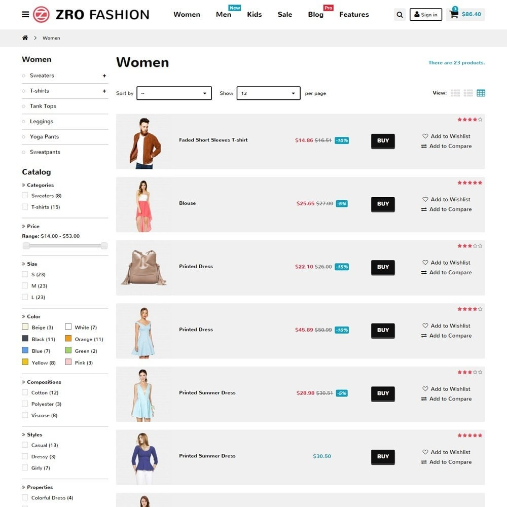 theme - Moda y Calzado - Zro02 - Fashion Responsive & Flexible - 8