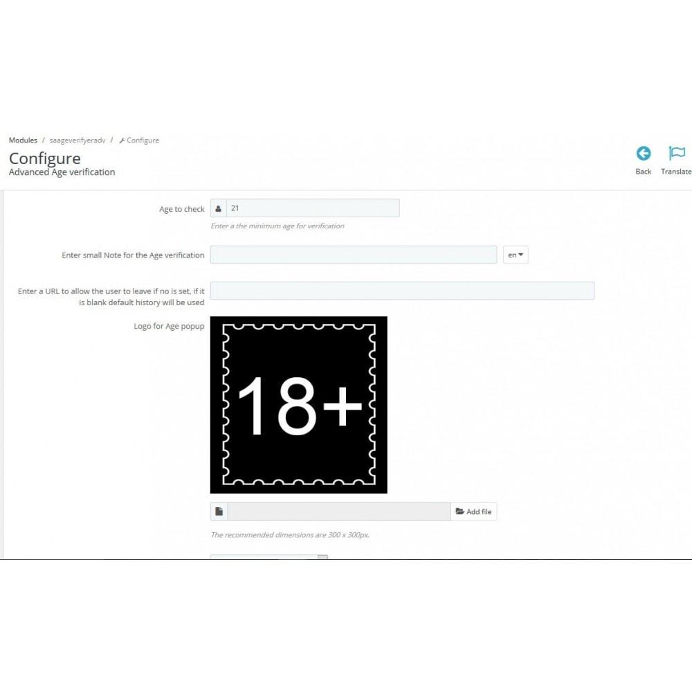 module - Sicherheit & Berechtigungen - Altersprüfungs Popup XXX FSK 18  / age checker - 2