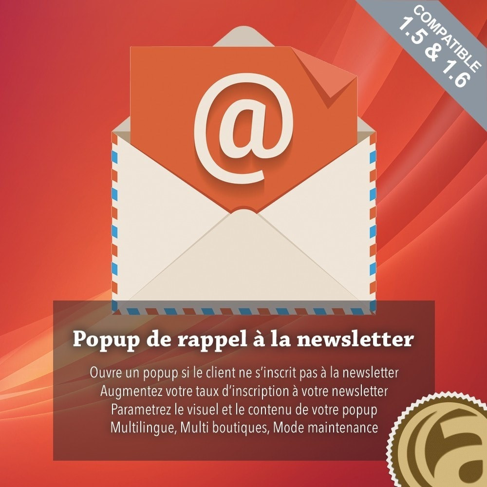 module - Remarketing & Paniers Abandonnés - Popup de rappel newsletter - 1