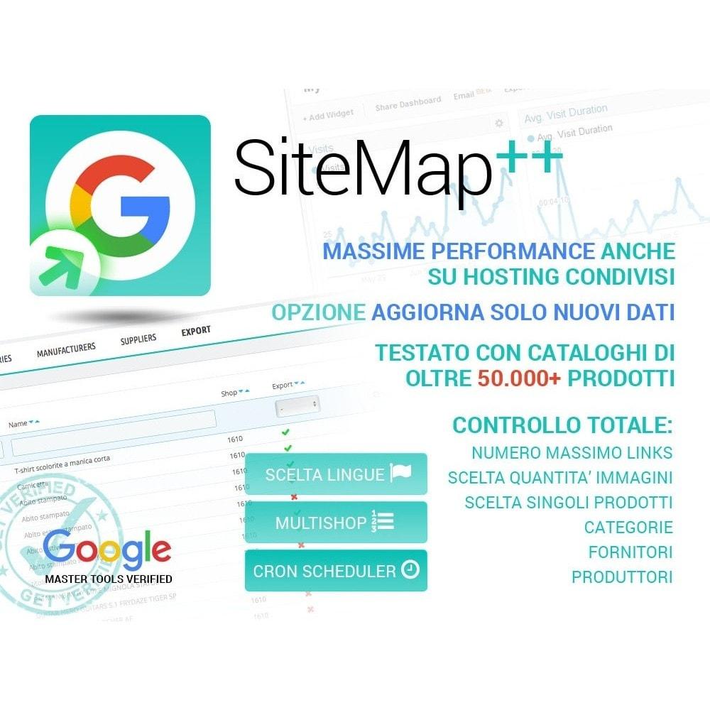 module - SEO (Indicizzazione naturale) - Sitemap Plus multi lingua con cron e filtri - 1