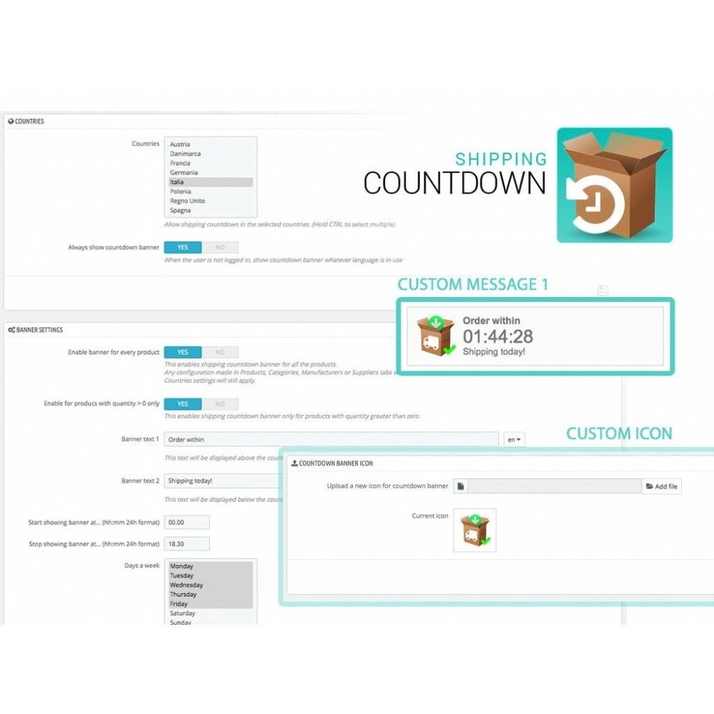 module - Data di Consegna - Banner Spedizione e consegna con Countdown - 2