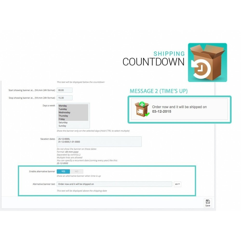 module - Data de entrega - Shipping Countdown banner - 3