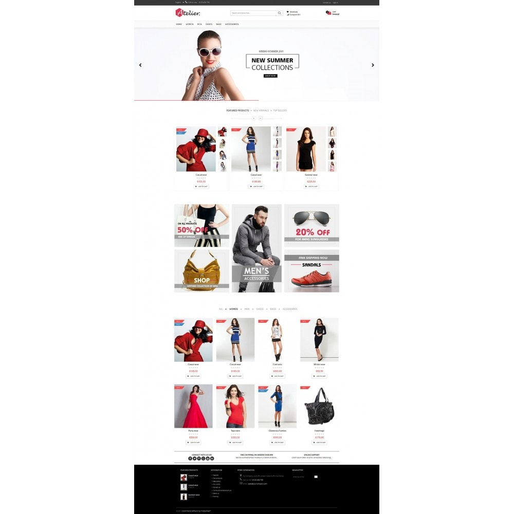 theme - Мода и обувь - Atelier Fashion Multipurpose HTML5 - 4
