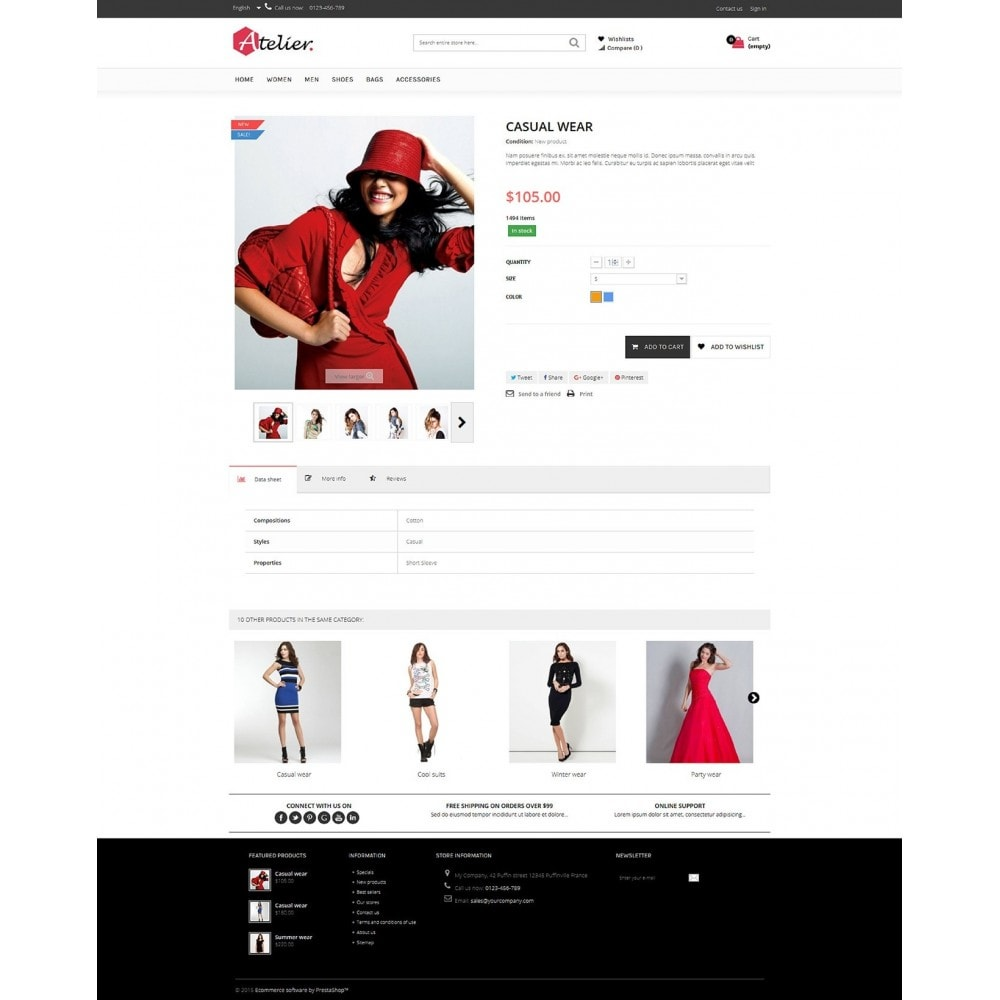 theme - Fashion & Shoes - Atelier Fashion Multipurpose HTML5 - 4