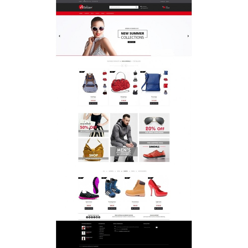 theme - Мода и обувь - Atelier Fashion Multipurpose HTML5 - 5