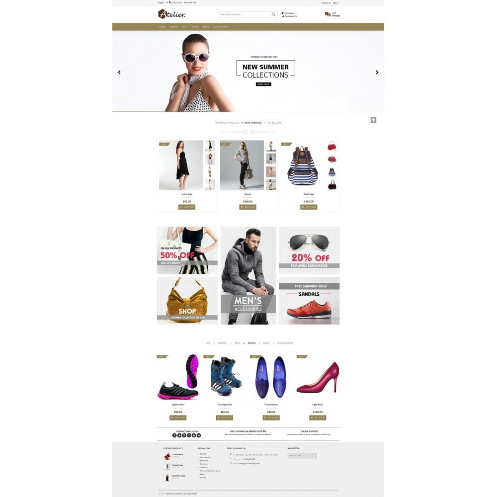 theme - Mode & Chaussures - Atelier Fashion Multipurpose HTML5 - 9