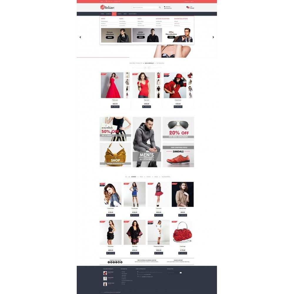 theme - Мода и обувь - Atelier Fashion Multipurpose HTML5 - 14