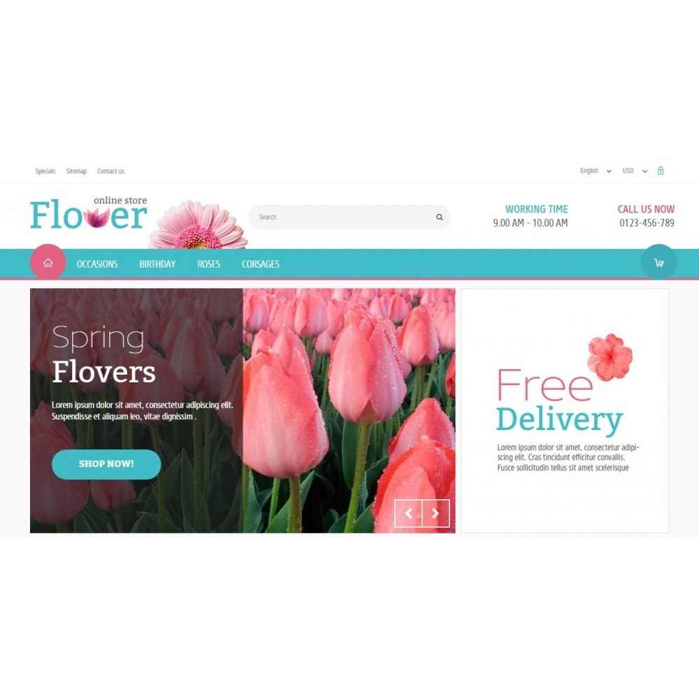 theme - Gifts, Flowers & Celebrations - Flower Online Store 1.6 Responsive - 3