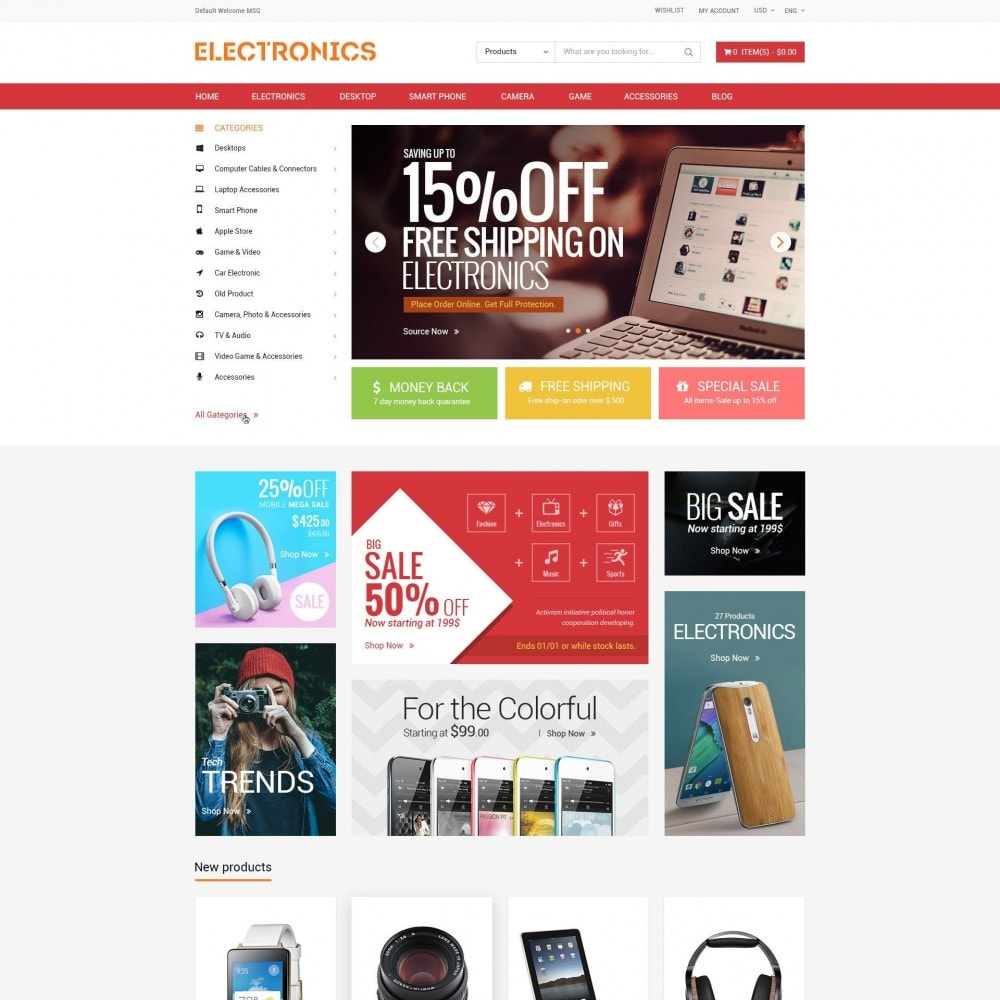 theme - Electrónica e High Tech - Appliances & Electronics Responsive  Store - 2