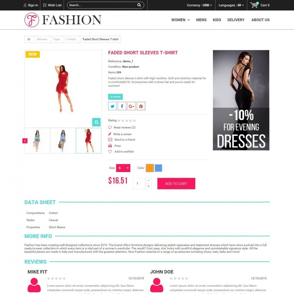 theme - Fashion & Shoes - Fashion Style - Сlothes Store - 4