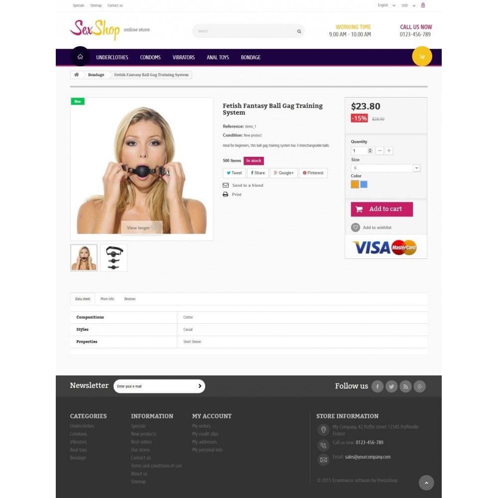 theme - Lingerie & Adultos - SexShop Online Store 1.6 Responsive - 7