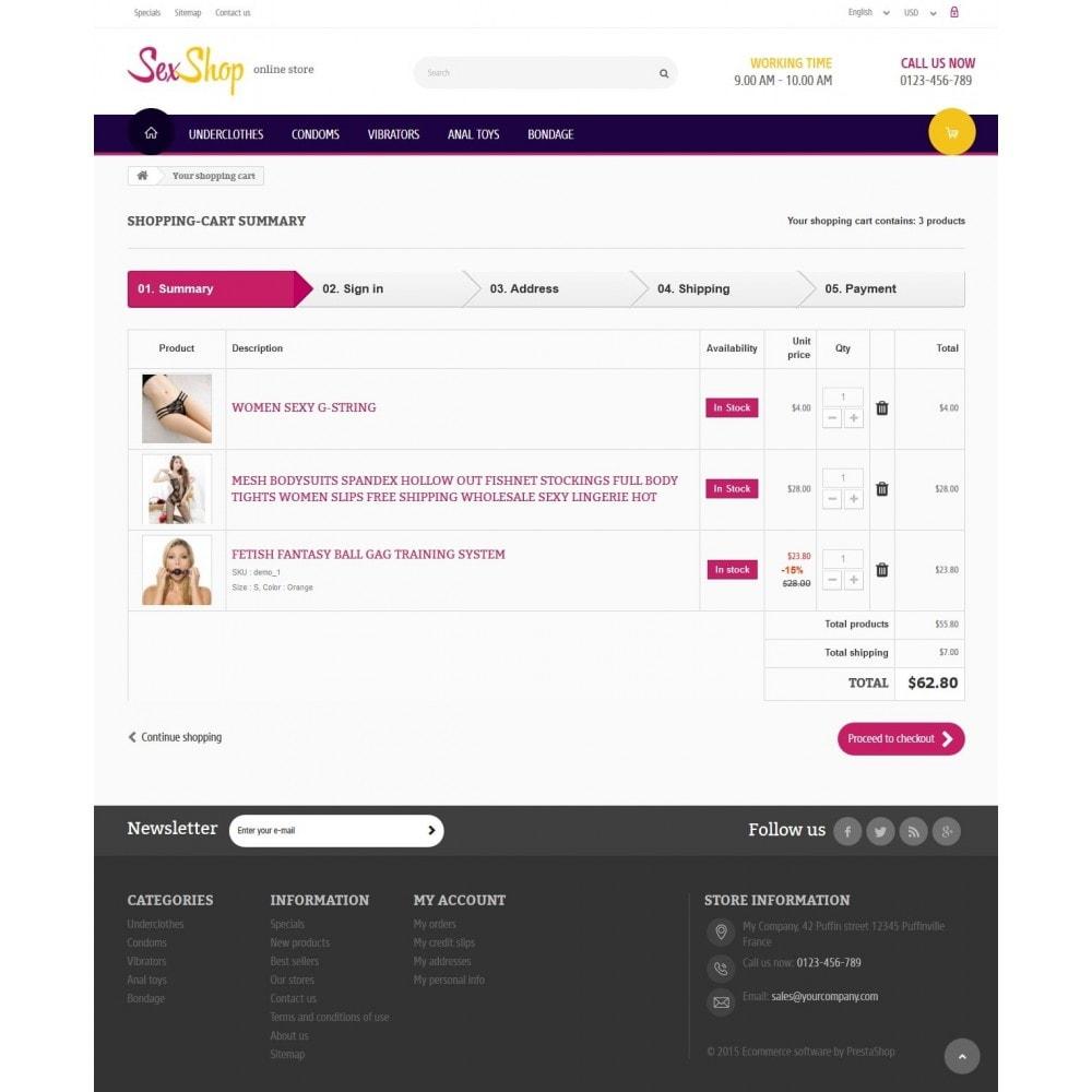 theme - Lingerie & Adultos - SexShop Online Store 1.6 Responsive - 8