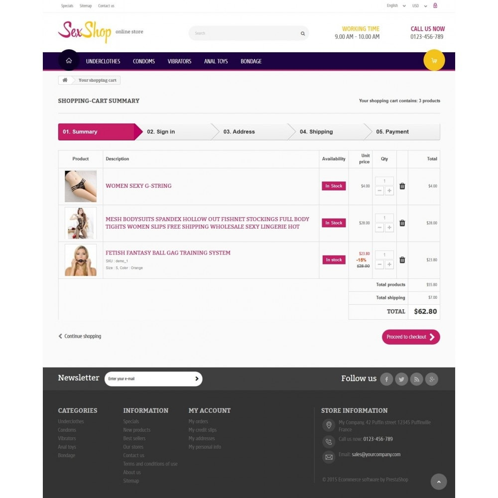 theme - Lingerie & Adulte - SexShop Online Store - 8
