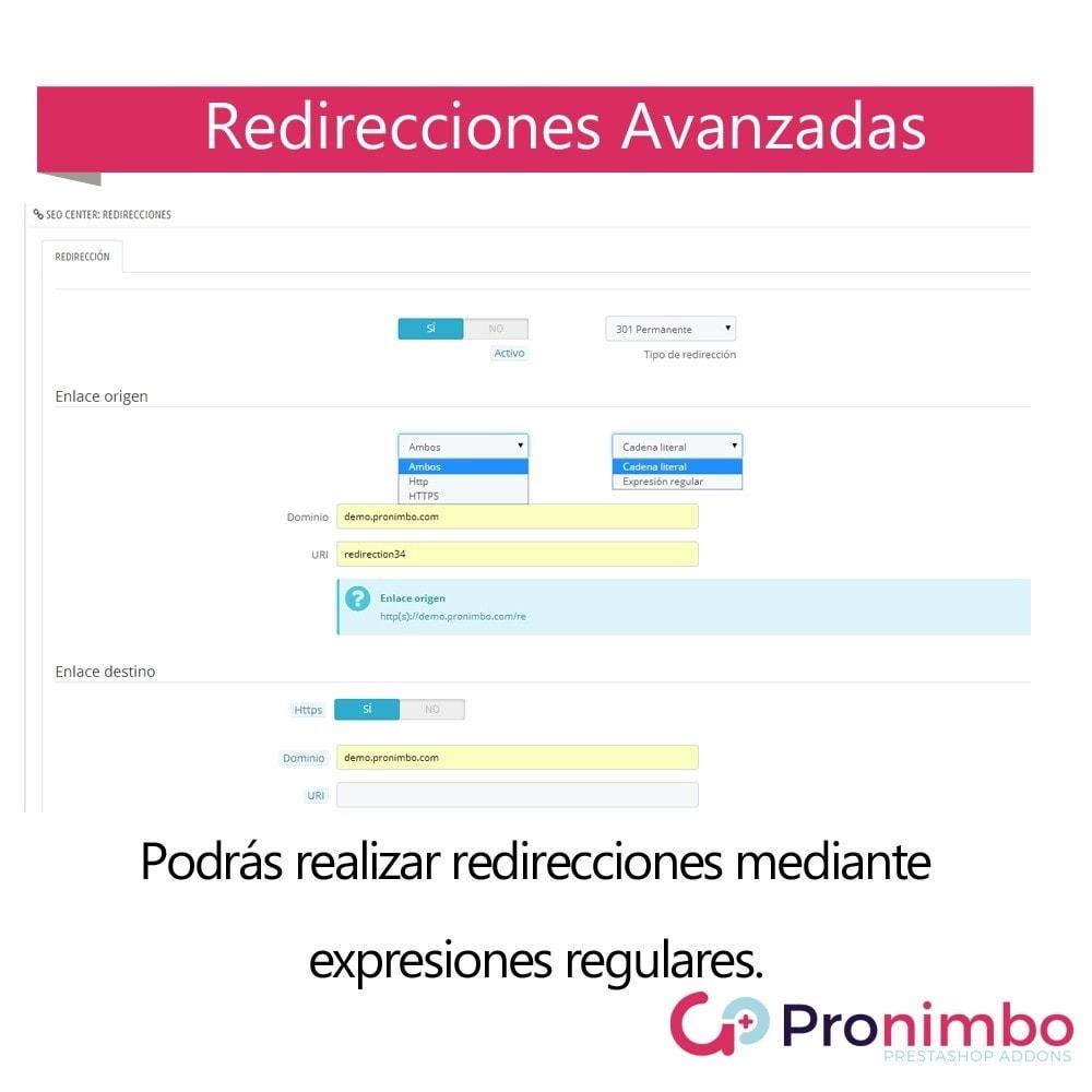 module - URL y Redirecciones - Seo Center: Redirecciones 301 / 302 - 4