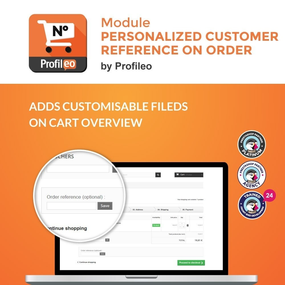 module - Gerenciamento de pedidos - Personalized customer reference on order - 1