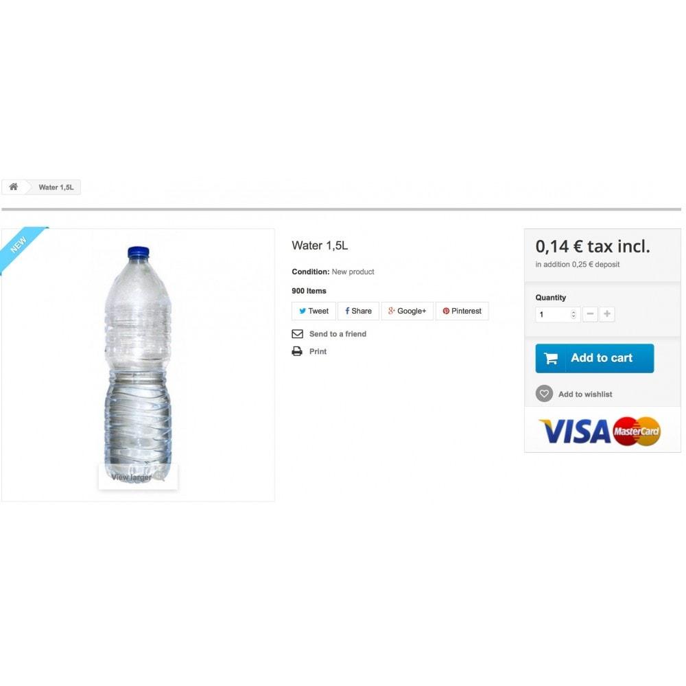 module - Information supplémentaire & Onglet produit - Deposit manager - 1