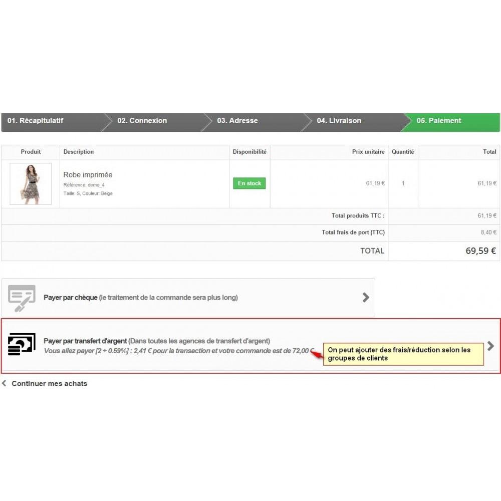 module - Autres moyens de paiement - Paiement par transfert d'argent - 1
