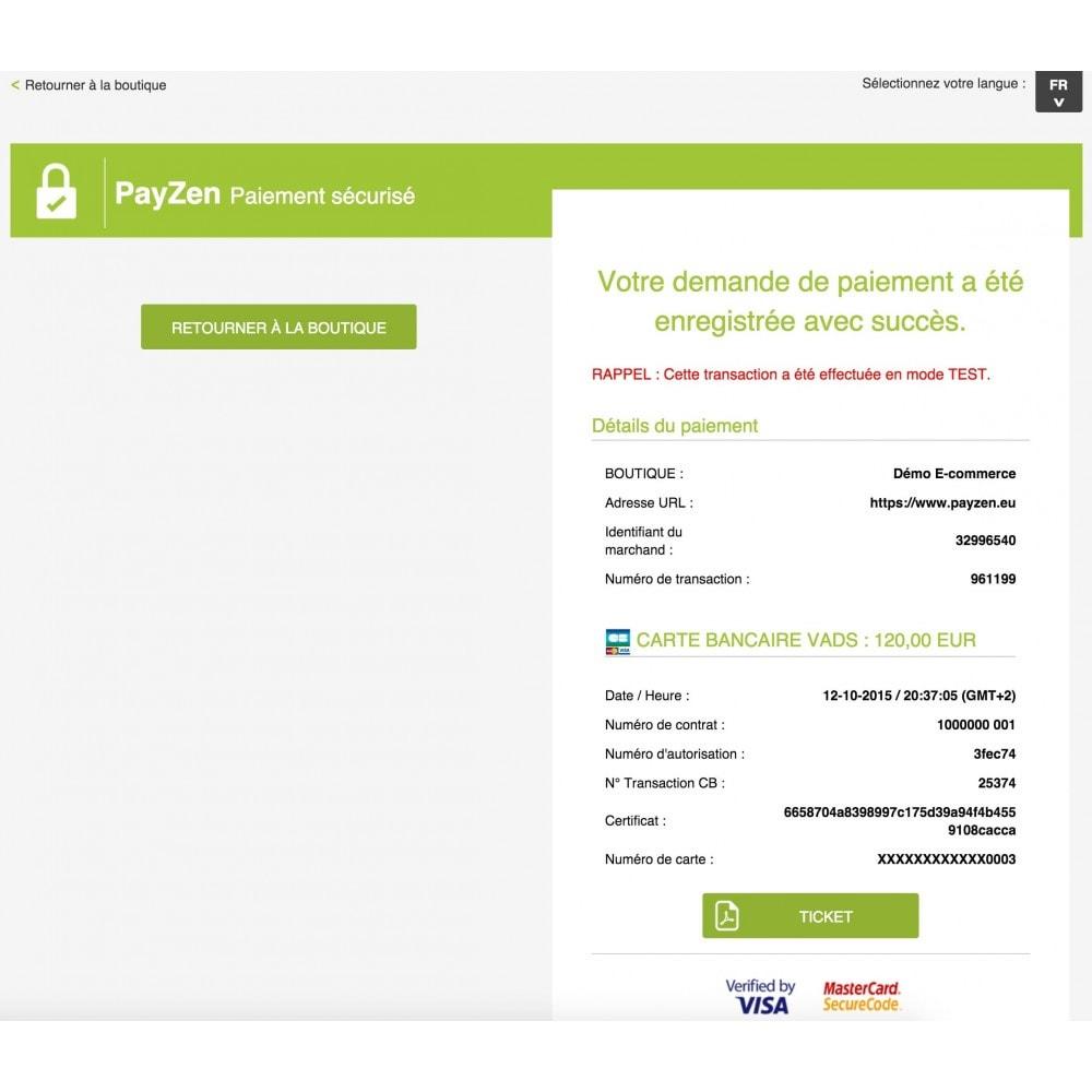 module - Paiement par Carte ou Wallet - Passerelle de Paiement PayZen SystemPay & SogeCommerce - 4