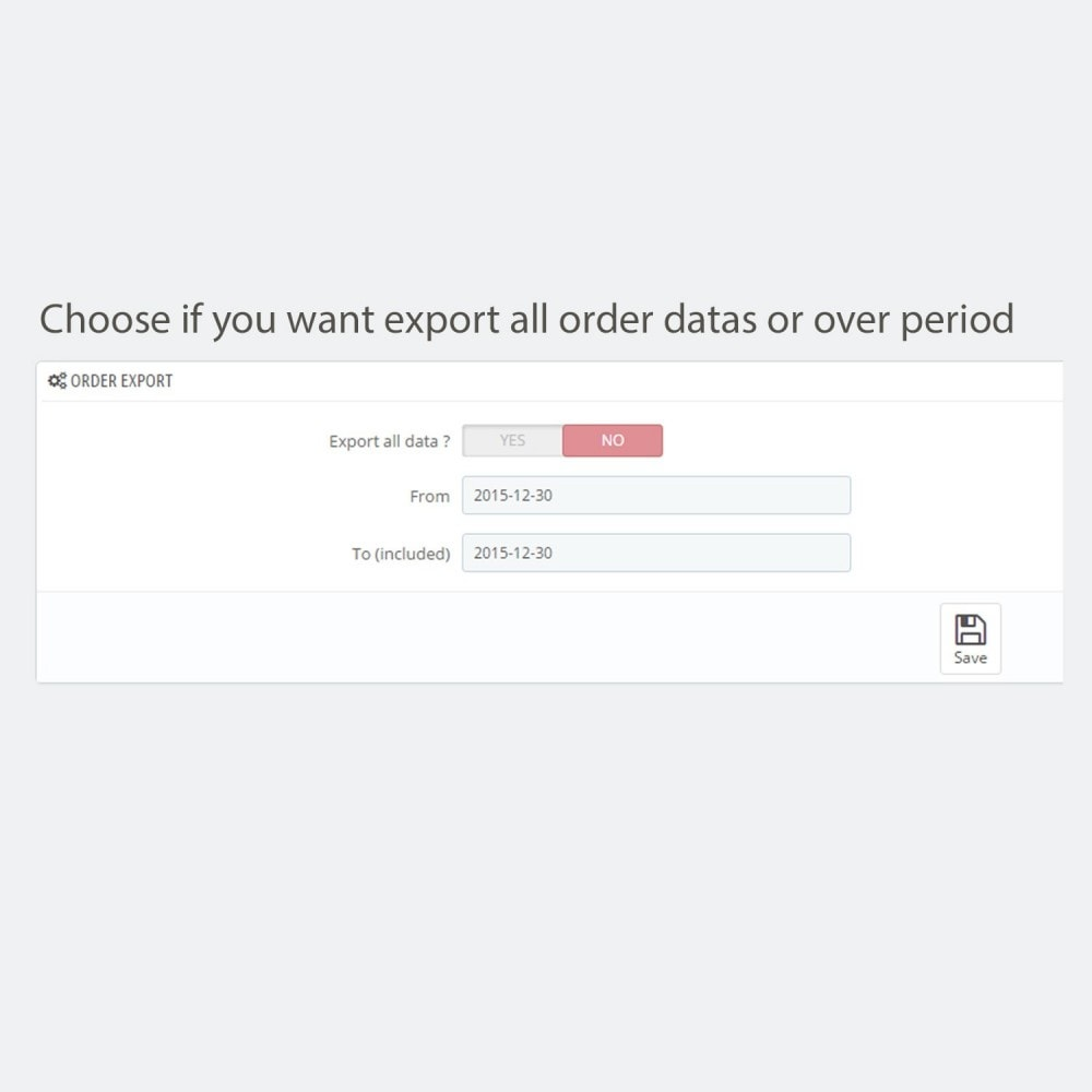 module - Daten Im-&Export - Simple and secure customer / order export - 3