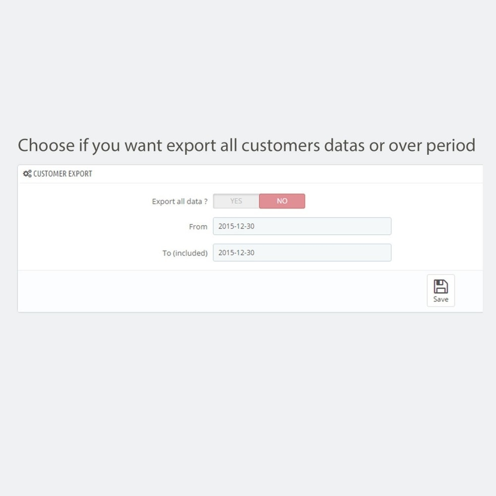 module - Importeren en Exporteren van data - Simple and secure customer / order export - 5